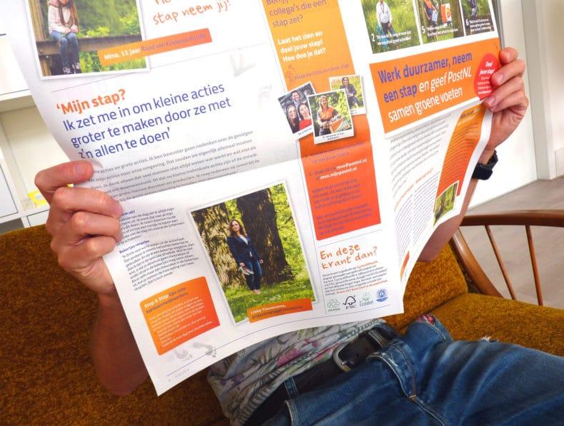 Interne campagne duurzaamheid PostNL