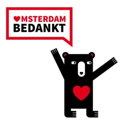 Mascotte 'Amsterdam Bedankt'