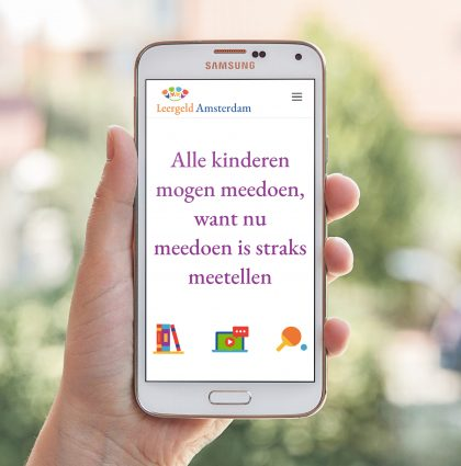 Website en flyers voor Leergeld Amsterdam